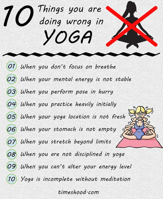Yoga for beginner, Yoga gone wrong, Things you are doing wrong in yoga