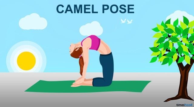 Camel Yoga Pose for Neck and Back Pain