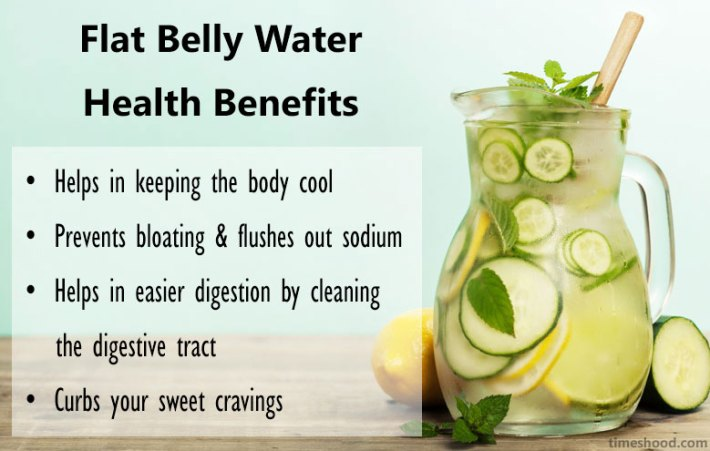 Flat tummy water Health Benefits