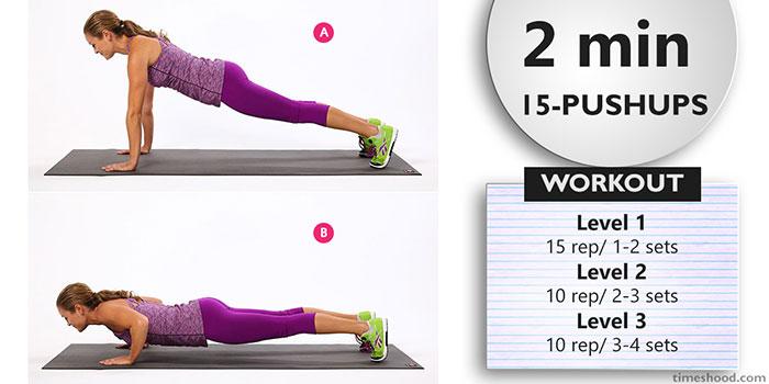 PUSHUPS - Morning workout plan