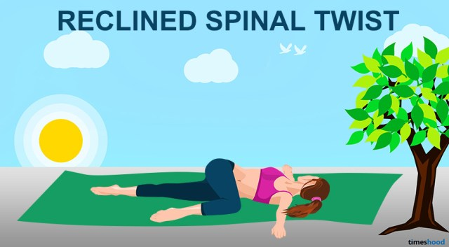 Reclined Spinal Twist Yoga Pose