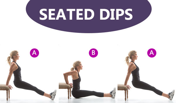 Seated Dips - 10 Workout for weight loss