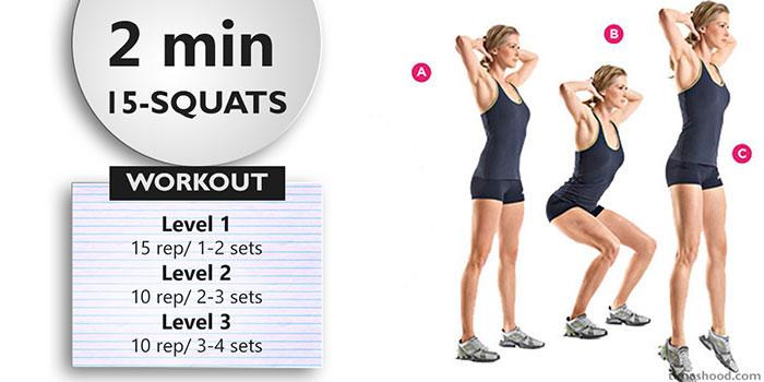 Squats - Morning Workout at Home