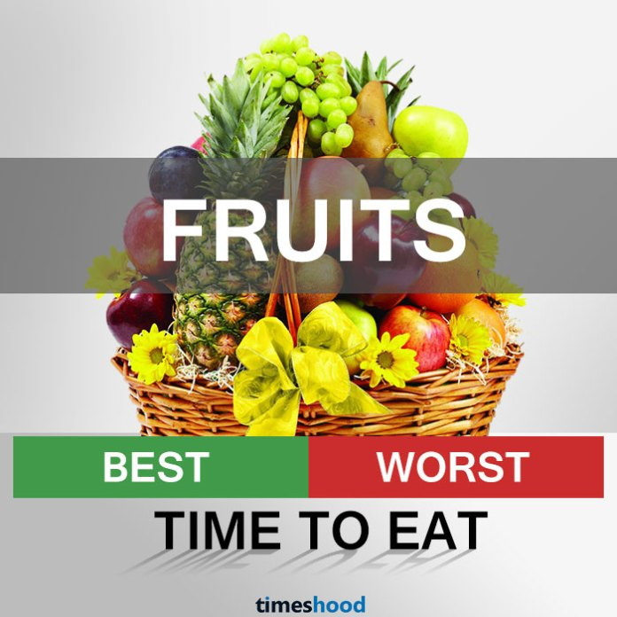 When to eat fruits | Best and Worst time to eat some common fruits | Right time to eat fruits | Best time to Eat Fruits in a day | via Timeshood.com