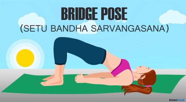 Bridge pose: Setu Bandha Sarvangasana