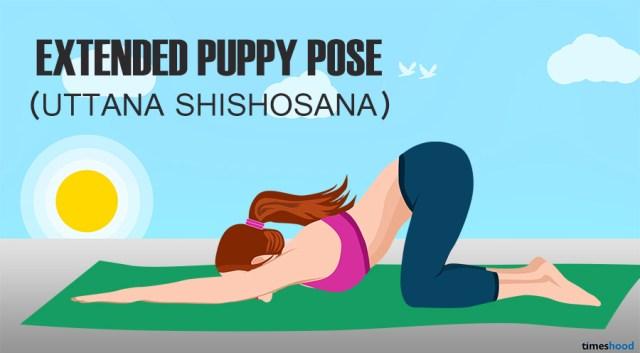 Uttana Shishosana: Extended Puppy Pose