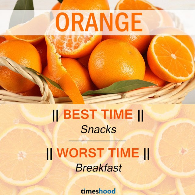 When to eat Orange | Best and Worst time to eat orange and some common fruits | Right time to eat fruits | Best time to Eat Fruits in a day | via Timeshood.com