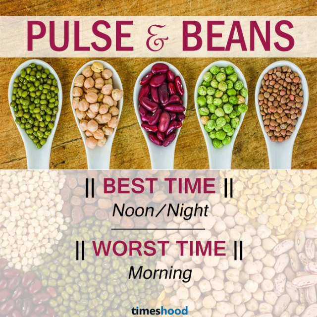 When to eat Pulse and beans | Best and Worst time to eat Pulse and beans and some common fruits | Right time to eat fruits | Best time to Eat Fruits in a day | via Timeshood.com