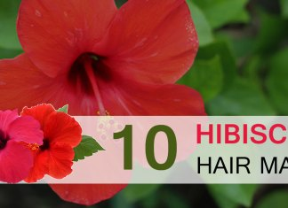 Hibiscus Hair Mask | DIY Hibiscus hair mask for soft, shiny and beautiful hair. How to use hibiscus for hair.