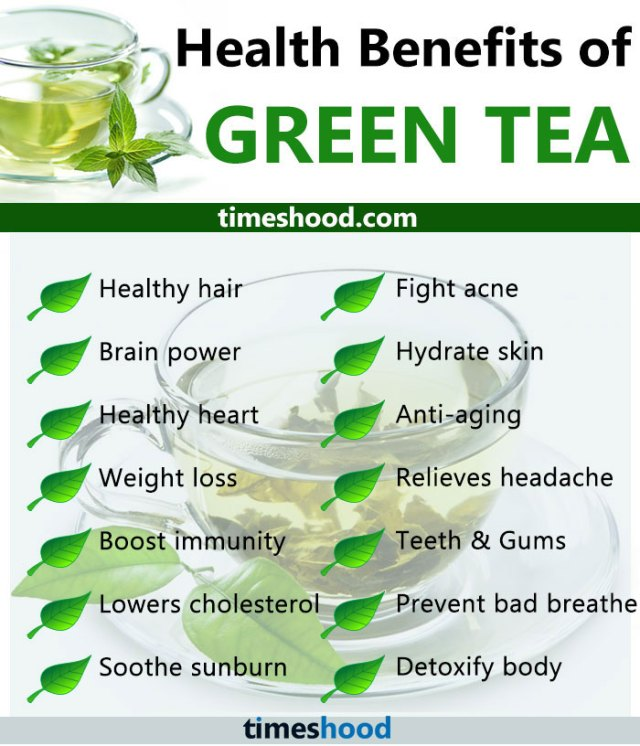 Here is a detailed explanation of some of the green tea benefits for your hair. Green tea is a good source of polyphenols, Vitamin C and Vitamin E that are helpful in stimulating hair growth and softening one's hair. This makes green tea an essential component in the making of shampoos and conditioners because its components are known to boost lustrous hair.
