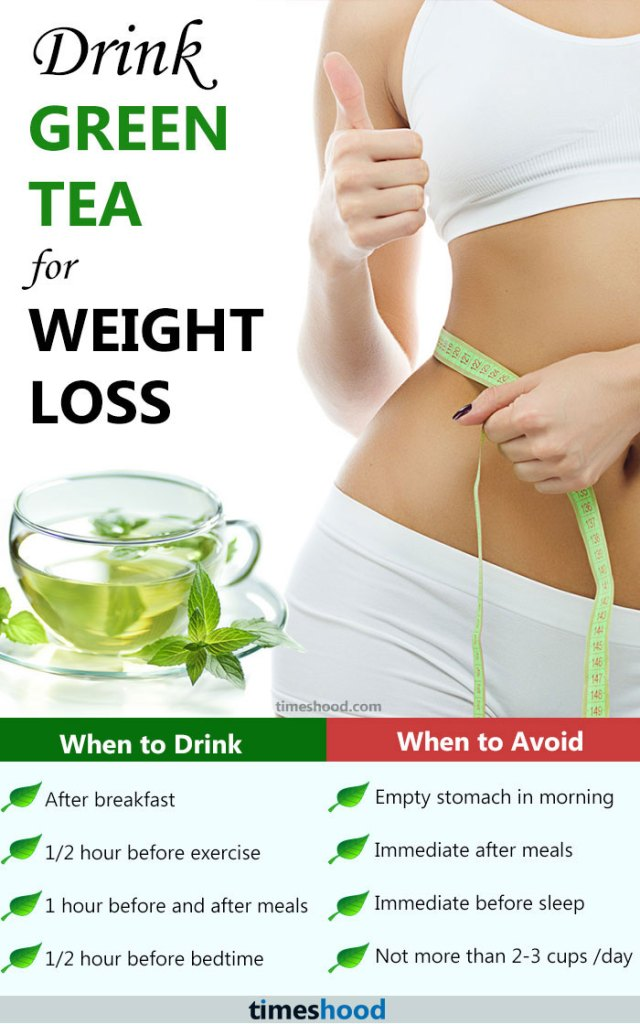 Drink green tea for weight loss. When to drink green tea for weight loss. How to avoid side effect of green tea. How to prepare green tea for weight loss.