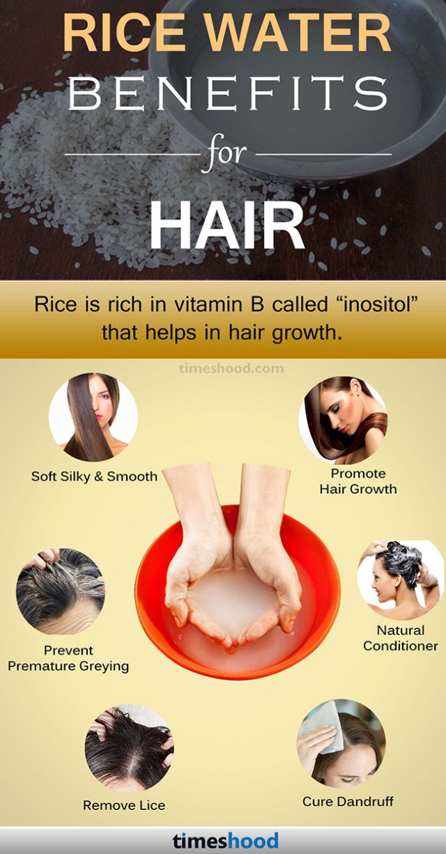 Benefits of Rice Water for Hair growth. Check out how to use Rice water for hair. How to make your hair grow faster. Rice Water for hair remedy. Via Timeshood.com