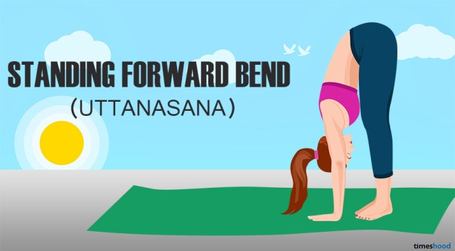 Stand forward bend yoga for belly fat.