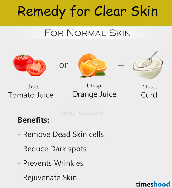 How to get clear skin at home? Tomato-Curd home remedies for clear skin. Clear skin tips