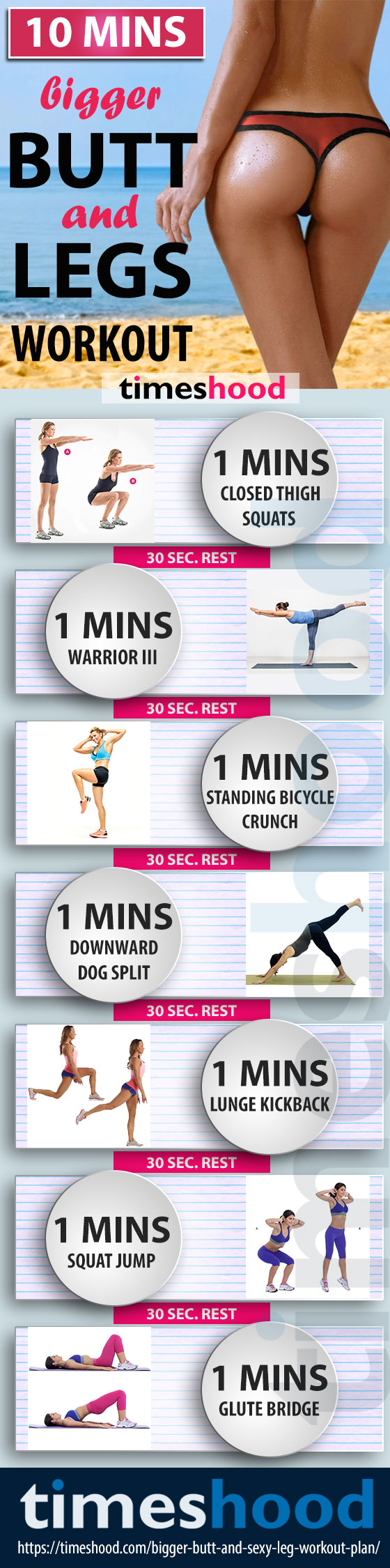 Bigger Butt And Firm Legs Workout Plan Do These 7 Exercise For 10 Minutes To