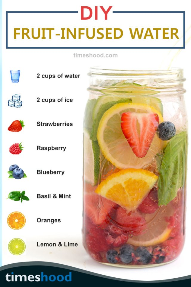 Try all fruit infused water recipes for weight loss and clear skin. This tasty appetite fruits infused detox water are healthiest and boosting metabolism drink. get more 6 DIY detox water here.
