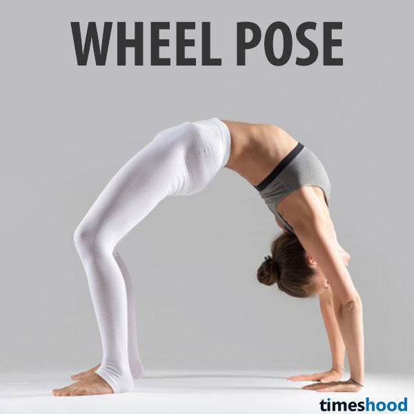 Wheel Yoga pose work great on mind, body, emotions, and fat. Helps strengthen your body especially abdomen and thighs. Yoga for weight loss.