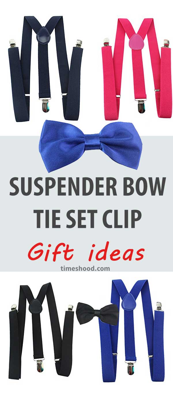 Suspender Bow Tie Set Clip. gift this pair to your dad, uncle. Gift ideas for men