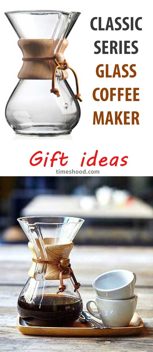 Glass Coffee Maker. Gift items for Coffee lover. Best gift ideas for Christmas, thanksgiving or any special day.