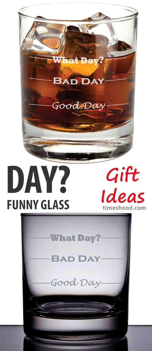 Good Day Bad Day Funny Glass Gift Idea. Funny and unique gift for your dad, grandpa, coworker, boss, and friends. Cool Christmas gift, Thanksgiving Ideas.