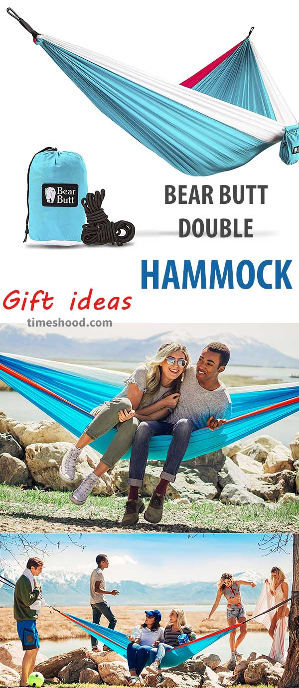 Bear butt double hammock. Gift ideas for men. Outdoor gift items.
