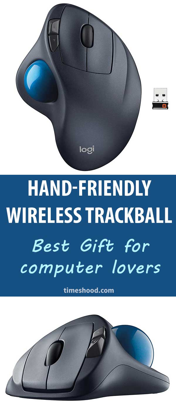 Wireless Trackball mouse. Best gift ideas for dad, friends, and boss. Gift for computer lovers. Cool gadgets for gift. Christmas gift items.