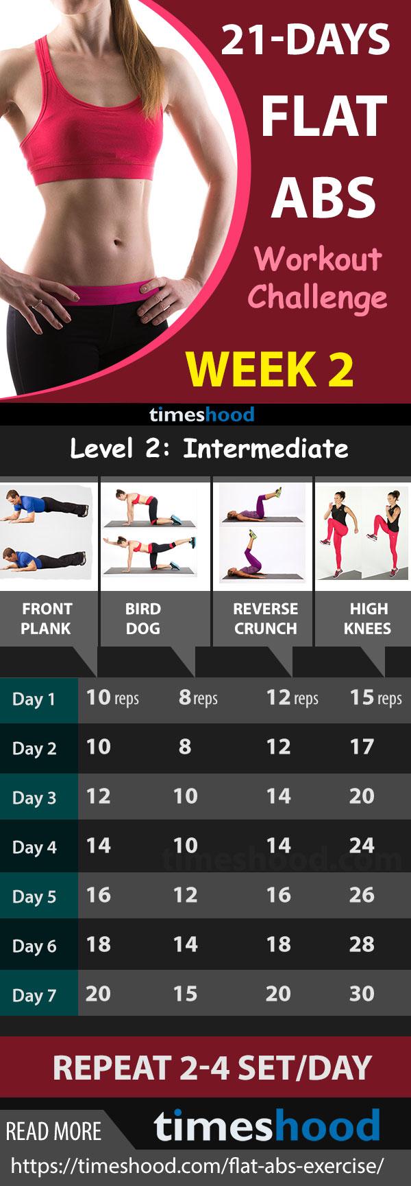 Best Flat Abs Workout Challenge Week 2
