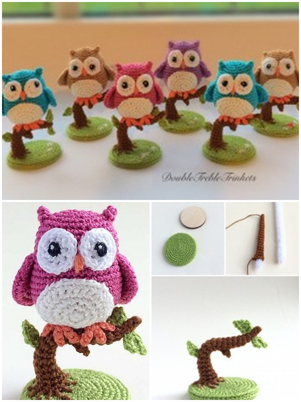 Free crochet amigurumi owls pattern. Baby animal crochet pattern for beginners. Best crochet owl design to decorate your home loving.