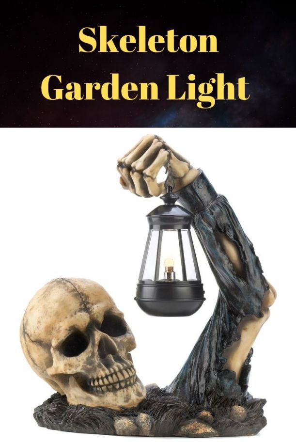 Give your visitors a greeting they'll never forget! Ghostly grinning skeleton appears to crawl from the ground with a swinging lantern light. Best Halloween haunted lawn decorations ideas.