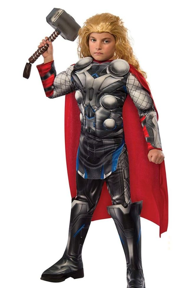 This Thor costume is perfect for your little Avenger. Get 10 more Avengers kids costume ideas on Halloween. Great costume ideas for kids on Halloween.