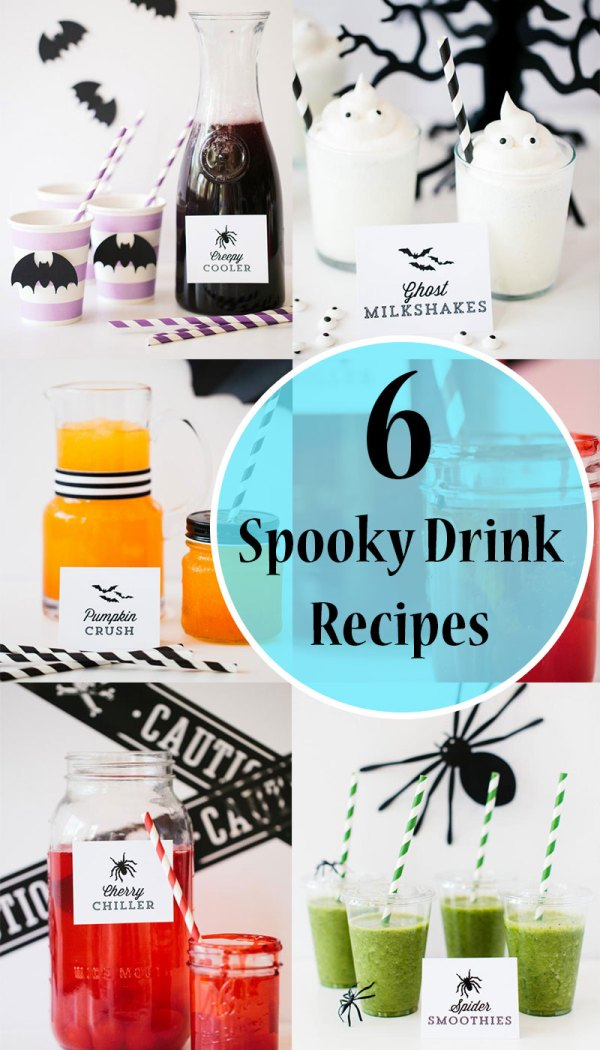 Drink and Punch Bowl Recipes for a Halloween Party. Spooky Drinks for kids. Happy Halloween!