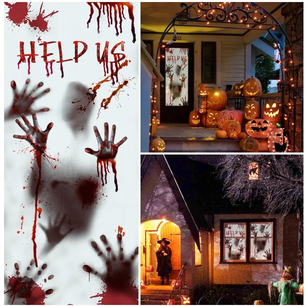 12 Spooky And Scary Halloween Door Decorations On Amazon