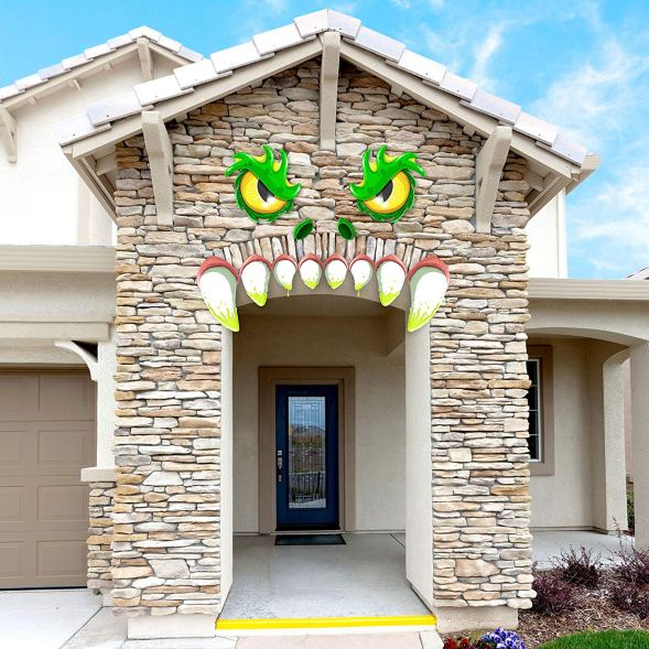 Decorate your Archway, front door, Garage, and car with this cute monster face. Fabulous way to decorate your house for Halloween party. Find 10 more Halloween decorations ideas from Amazon.