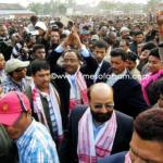 ULFA Chairmen Arabinda Rajkhowa in Ranghar after released from Jail