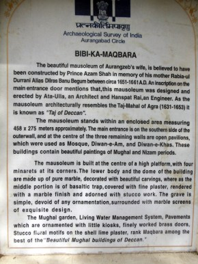 india_aurangabad_bibi_ka_maqbara_sign