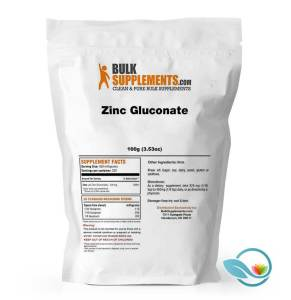 BulkSupplements Zinc Gluconate Powder