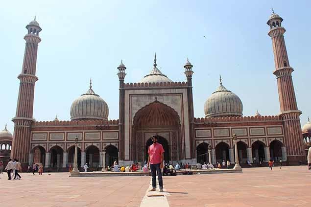 At the Jama Masjid in New Delhi