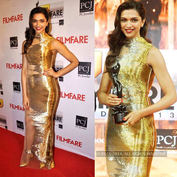 Deepika Padukone shines at Filmfare Awards