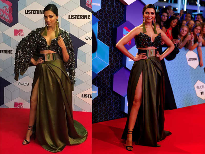 Deepika Padukone rocks her look at the EMA 2016