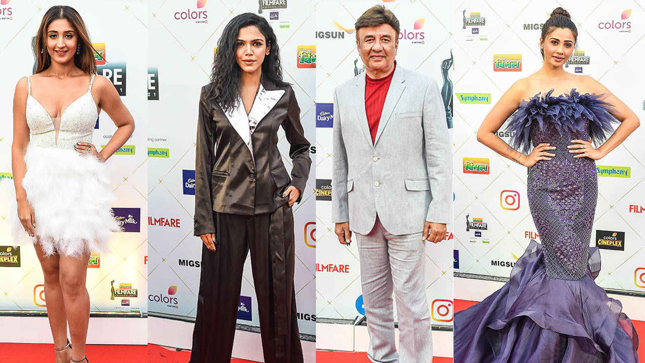 Daisy Shah, Farah Khan, Dhvani Bhanushali, Shriya Pilgaonkar & Anu Malik spotted at the 66th edition of Filmfare Awards 2021 in Mumbai | Hindi Movie News – Bollywood – Times of India