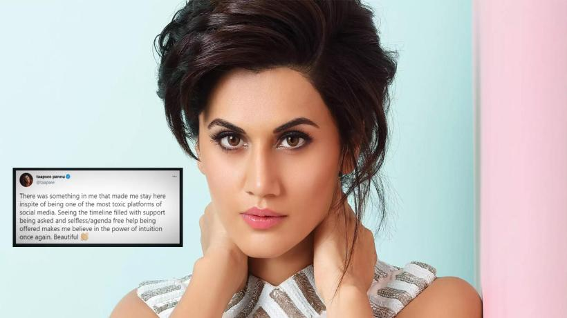 Taapsee Pannu feels happy staying on Twitter, despite its 'toxicity', says she 'believes in the power of intuition' | Hindi Movie News – Bollywood – Times of India