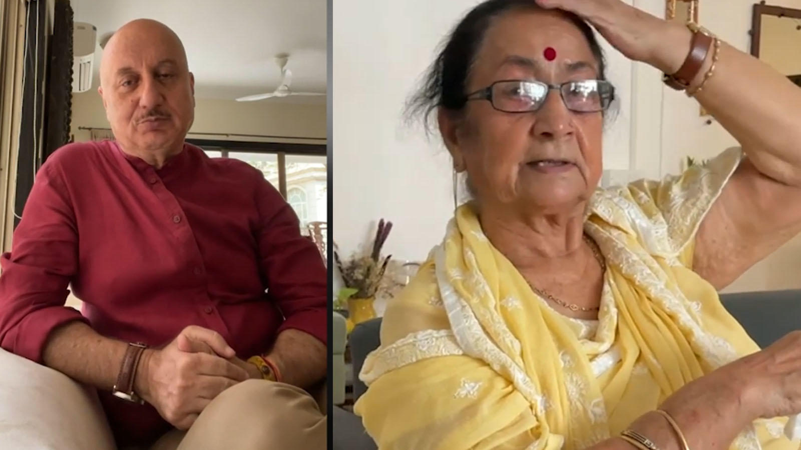 'God is angry with the world': Anupam Kher shares his mother Dulari Kher's 'theory about COVID-19 pandemic' | Hindi Movie News – Bollywood – Times of India
