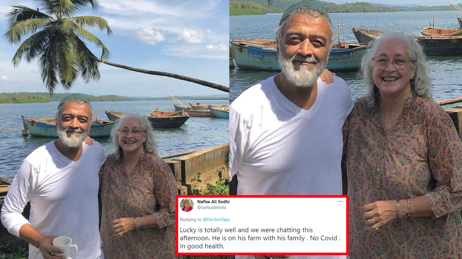 Nafisa Ali reacts to Lucky Ali's death hoax, says he is 'fine' and does not have COVID-19   Hindi Movie News – Bollywood – Times of India