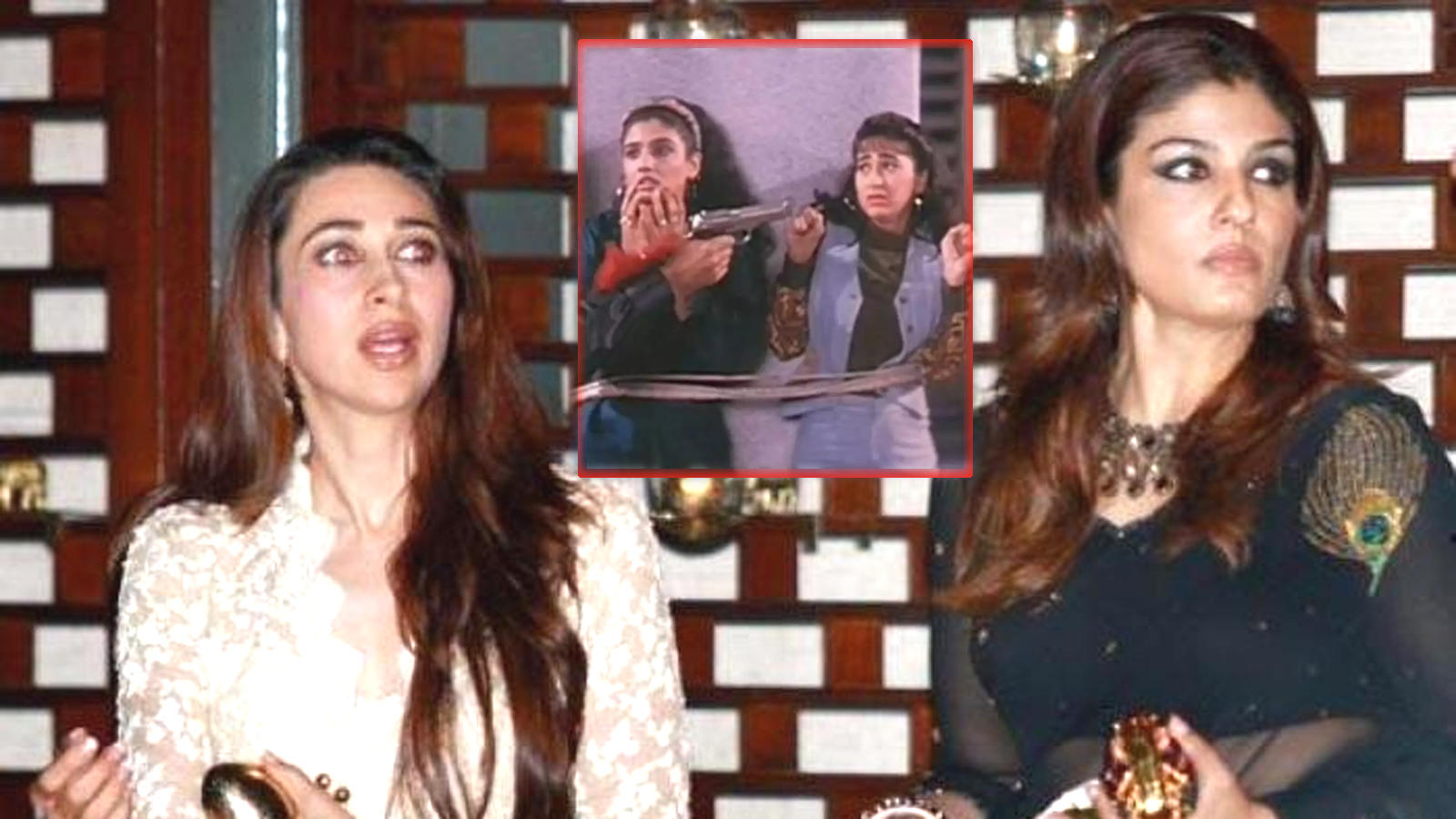When Raveena Tandon and Karisma Kapoor were forced to talk to each other tied to a pillar on the sets of 'Andaz Apna Apna' | Hindi Movie News – Bollywood – Times of India