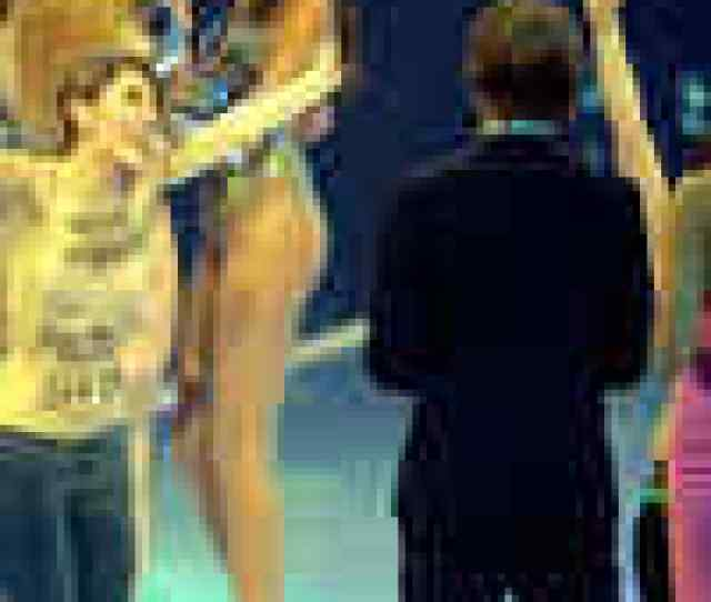 Topless Girls Crash Heidi Klums Show English Movie News Hollywood Times Of India