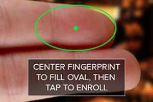 A fingerprint scanning app for Android phones