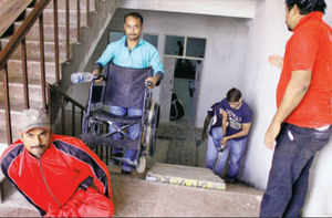 Callous babus set disabled athletes an obstacle course