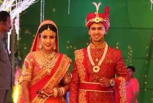 A lavish wedding celebration in Hyderabad