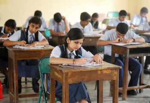 School students during an examination. (TOI file photo by S Eshwar for representation)