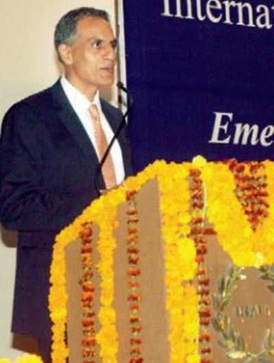US ambassador to India Richard R Verma at CCS National Institute of Agricultural Marketing in Jaipur on Thursday